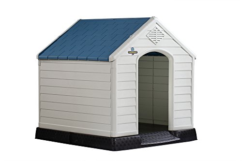 Confidence-Pet-Waterproof-Plastic-Dog-Kennel-Outdoor-Winter-House-Large