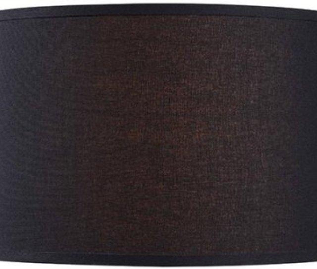 Drum Lamp Shade 16 Linen Black