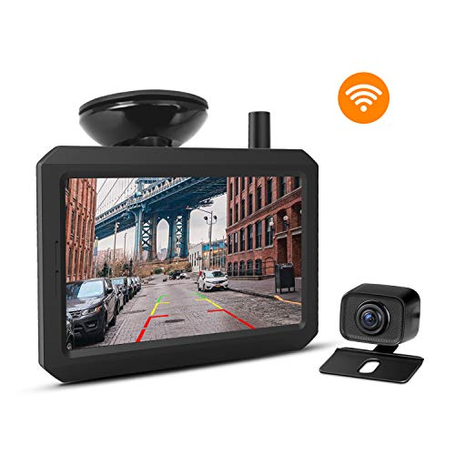 Wireless Backup Camera Kit with Digital Signal, IP68 Waterproof Rear View Camera with 5″TFT-LCD Monitor BOSCAM K7 Ideal for Sedans, Pickup Truck, Minivans
