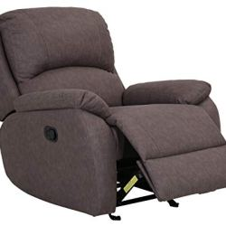 Amazon Brand – Ravenna Home Oakesdale Contemporary Recliner, 35.4″W, Langley Taupe