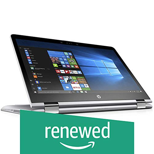 (CERTIFIED REFURBISHED) HP Pavilion X360 14-BA077TU Anti-Glare 14-inch FHD Touchscreen Convertible Laptop (7th Gen Intel i3-7130U/4GB DDR4/1TB SSHD/Win 10/Backlit Keyboard/MS Office Home and Student 2016), Natural Silver