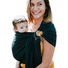 Luxury Ring Sling Baby Carrier – Extra Soft Bamboo & Linen Fabric, Full Support and Comfort for Newborns, Infants & Toddlers – Best Baby Shower Gift – Great for Men Too