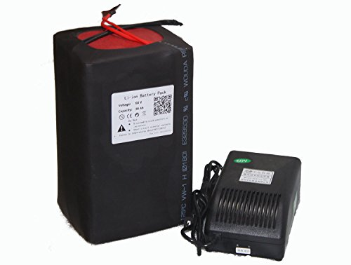 60V 30Ah Battery Pack Lithium Li-ion for Sporting Scooter Electric Bike Ebike Bicycle with 5A Charger BMS