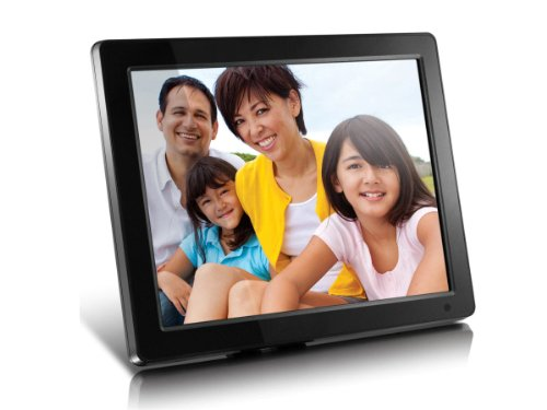 Aluratek (ADMPF512F) 12' Hi-Res Digital Photo Frame with 4GB Built-In Memory and Remote (800 x 600 Resolution), Photo/Music/Video Support, Wall Mountable