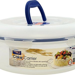 Lock & Lock Round Cake Box – Clear/Blue, 5.5 L 41fg1dHptkL