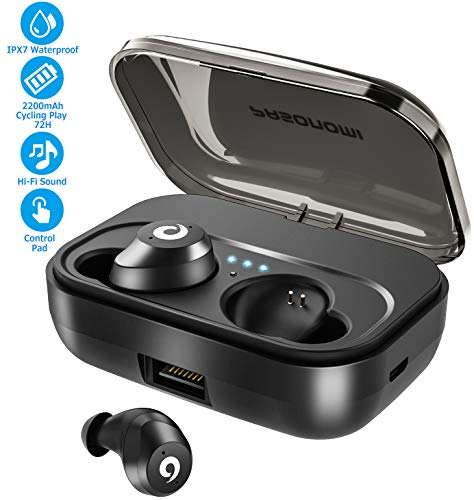 Bluetooth Earbuds Wireless Headphones Bluetooth Headset Wireless Earphones IPX7 Waterproof 72H Playtime Bluetooth 5.0 Stereo Hi-Fi Sound with 2200mAH Charging Case
