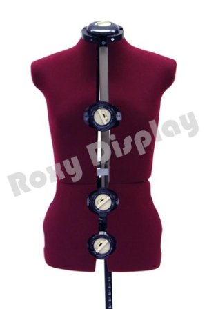 (JF-FH-8) ROXYDISPLAY 12-Dial Fabric-Backed Large Adjustable Dress Form with Base,