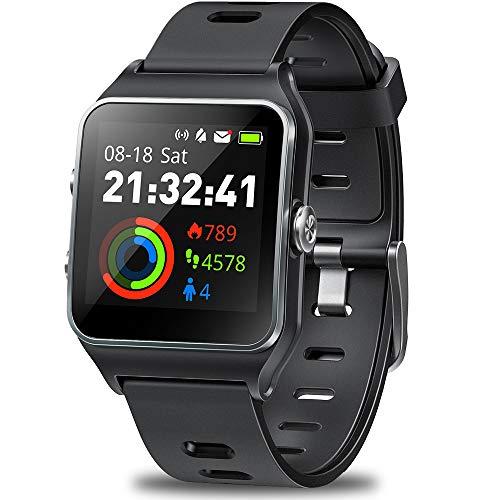 DR.VIVA GPS Watch for Men Women, Activity Tracker GPS Running Watch Touch Screen Sports Watch Heart Rate/Sleep/Step/Counter Monitor Waterproof GPS Fitness Watch