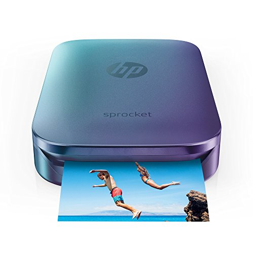 HP Sprocket Portable Photo Printer, Print Social Media Photos on 2x3' Sticky-Backed Paper - Blue (Z9L26A)