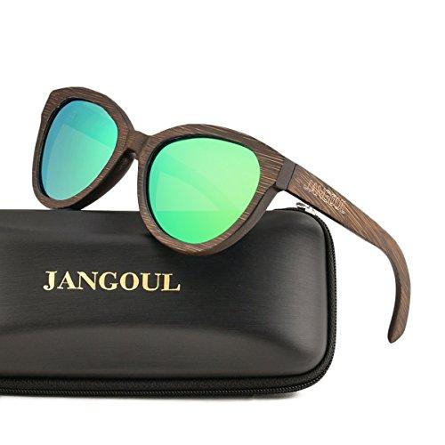 Polarized Sunglasses Bamboo Skateboard Wood Frame For Women with UV400