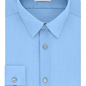 Calvin Klein Men's Dress Shirt Slim Fit Non-Iron Herringbone 6