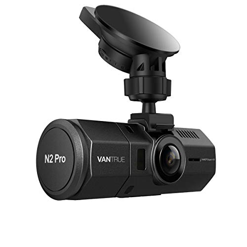 Vantrue N2 Pro Uber Dual Dash Cam Infrared Night Vision Dual 1920x1080P Front and Inside Dash Camera (2.5K 2560x1440P Single Front) 1.5' 310° Car Camera, Parking Mode, Support 256GB max, Sony Sensor