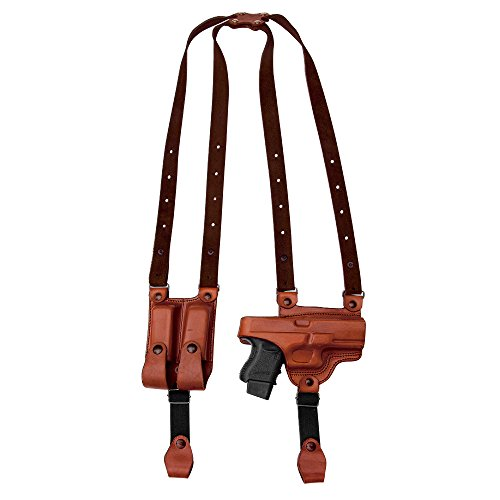 Tagua SH4-692 Full Slide Shoulder Holster, Springfield XDs with CT Laser, Brown, Right Hand