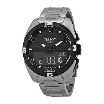 Tissot Men's T0914204405100 T-Touch Expert Solar Analog-Digital Display Swiss Quartz Silver Watch