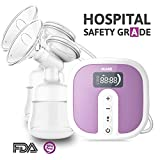 Electric Double Breast Pumps [Hospital Grade] by IKARE, Portable Breast Pump with Rechargeable Battery, Whisper Quiet Motor with 45 Adjustable Intensity