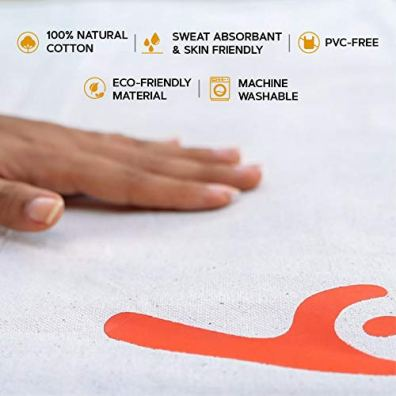 Cotton-Yug-Sadhana-Cotton-Yoga-Mat-8mm-thick-Machine-Washable-Sweat-Absorbent-Eco-friendly-material-Comes-with-a-Free-Grip-Mat-for-smooth-surfaces-a-free-carry-bag-for-Easy-Portability-For-Yoga-Workou