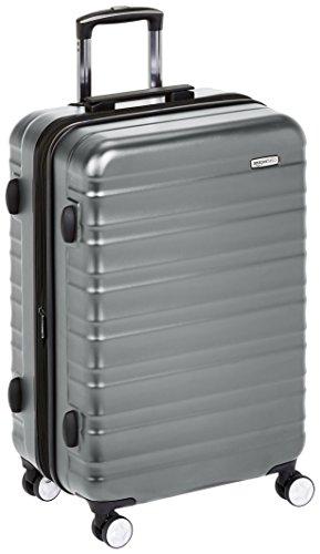 AmazonBasics Premium Hardside Spinner Luggage with Built-In TSA Lock - 24-Inch, Grey