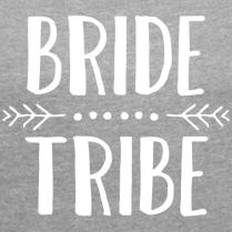 Spreadshirt-Bride-Tribe-EVJF-T-Shirt--Manches-retrousses-Femme
