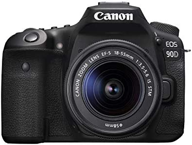 Canon DSLR Camera [EOS 90D] with EF-S 18-55 is STM Lens Kit, Built-in Wi-Fi, Dual Pixel CMOS AF and 3.0-inch Vari-Angle Touch Screen