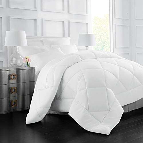 Italian Luxury Goose Down Alternative Comforter - All Season - 2100 Series Hotel Collection - Luxury Hypoallergenic Comforter - King/Cal King - White