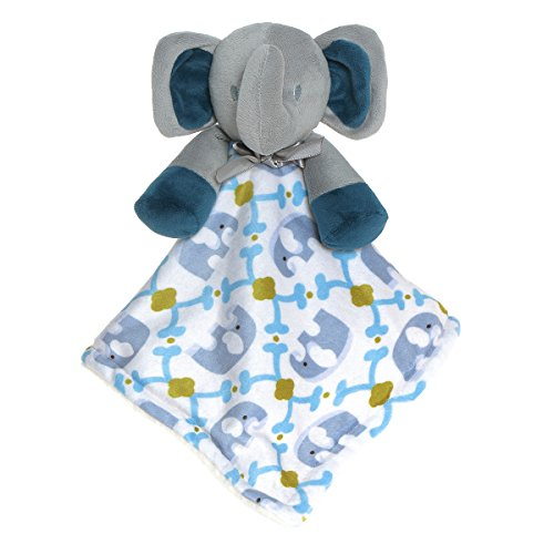 BabyPrice Baby Adorable Elephant Security Blanket Toy Soft Cuddly Baby Blankie Buddy Girls Boys