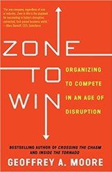 The book cover for a must-read innovation books called Zone to Win