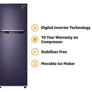 Samsung 275 L 3 Star ( 2019 ) Frost Free Double Door Refrigerator(RT30M3043UT, Pebble blue, Inverter Compressor)