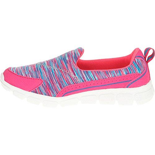 Danskin Now Girls' Memory Foam Slip-on Athletic Shoe (1 Little Kid (Girl), Auqa-Pink)
