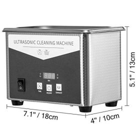 VEVOR-08L-Professional-Ultrasonic-Cleaner-304-Stainless-Steel-Digital-Lab-Ultrasonic-Cleaner-with-Timer-for-Jewelry-Watch-Glasses-Circuit-Board-Dentures-Small-Parts-Dental-Instrument-08L