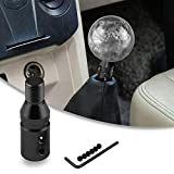 RYANSTAR Shift knob Shifter Adapter Universal for Non Threaded Shifters M12×1.25, for BMW/Mini/VW Black