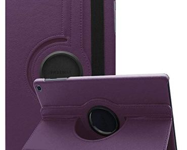 SwooK Rotating Stand Flip Cover Case for Samsung Galaxy Tab A7 10.4 inch [2020 Release] SM- T500 T505 T507 Tab Flip Cover Case (Purple)