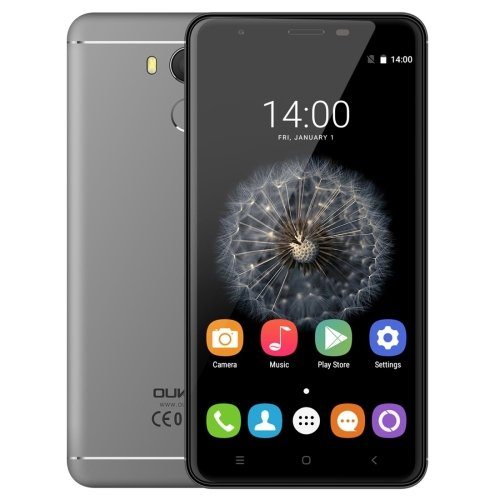 OUKITEL U15 Pro 32GB 5.5 Inch 2.5D Curved Android 6.0 Smartphone, MTK6753 Octa Core up to 1.3GHz, 3GB RAM GSM & WCDMA & FDD-LTE (Grey)