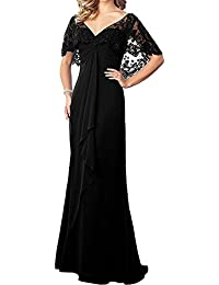 Women's Lace Chiffon Long Prom Evening Dress Mother Of The Bride Dresses Wedding Gown