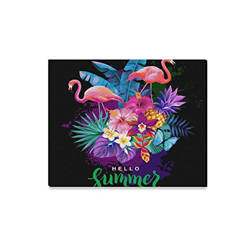 Wall Art Painting Tropical Summer Arrangement with Flamingos Palm L Prints On Canvas The Picture Landscape Pictures Oil for Home Modern Decoration Print Decor for Living Room