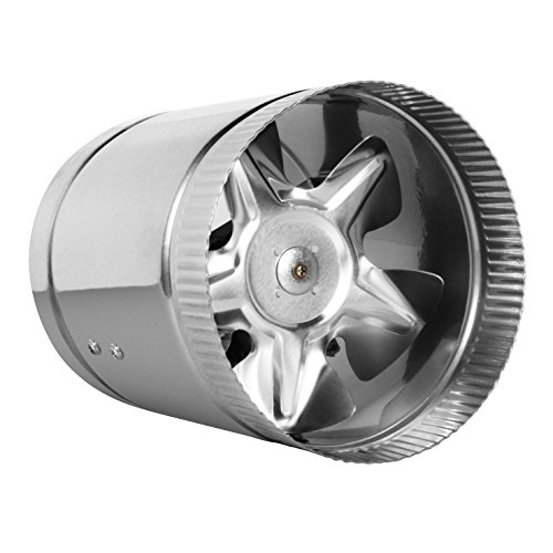 6' Inline Fan - 240 CFM, Metal Duct Booster Fan, ETL Listed, Pre-Wired 6 FT Grounded Cord - Great for Grow Tent Exhaust and Intake, Register Booster for 6 Inch Ducts