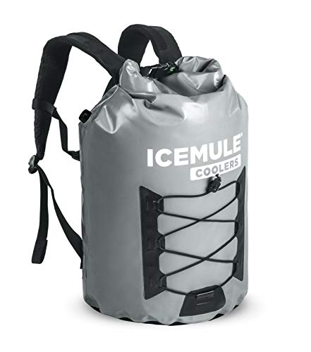 IceMule Pro Insulated Backpack Cooler Bag - Hands-Free, Collapsible, Waterproof and Soft-Sided, This Highly Portable Cooler is Ideal for Hiking, The Beach, Picnics, Camping, Fishing - X-Large, Grey