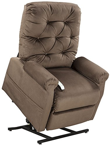 Mega Motion Lift Chair Easy Comfort Recliner LC-200 3 Position Rising Electric Power Chaise Lounger - Navy Blue Color Fabric
