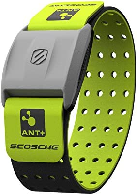 Scosche Rhythm+ Heart Rate Monitor Armband - Optical Heart Rate Armband Monitor with Dual Band Radio ANT+ and Bluetooth Smart - Pack Includes Additional Armband 1