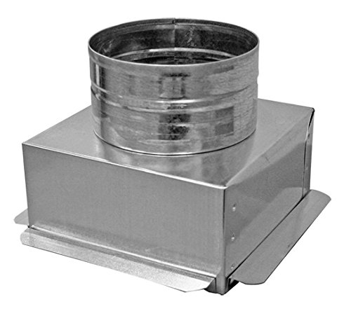 Duct Outlet 6 X 6 Ceiling Box W 6 Round Collar Connects Register Vent And Diffuser Hvac Trusted E Blogs
