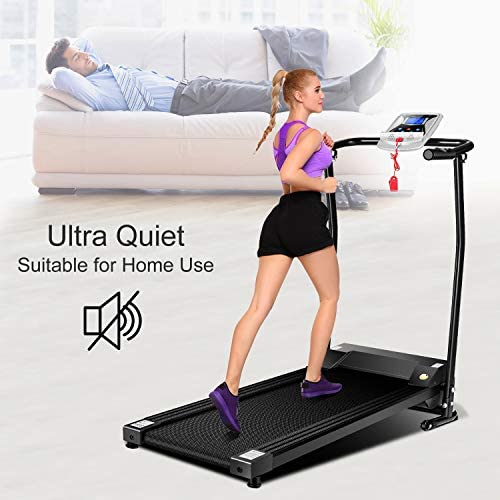 Mauccau Folding Treadmill for Home, Electric Treadmills with LCD Display Exercise Fitness Trainer Walking Running Machine 8