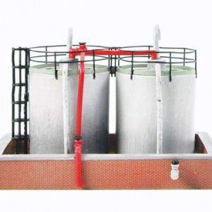 Graham Farish 42-016 Scenecraft Fuel Storage Tanks (Pre-Built) 41gl0JET OL