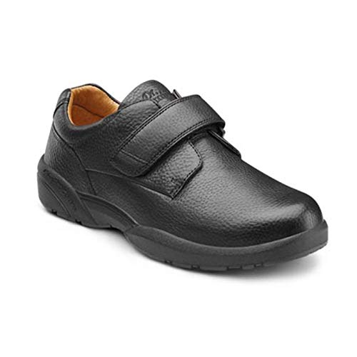 Dr. Comfort Men's William-X Double Depth Black Diabetic Casual Shoes