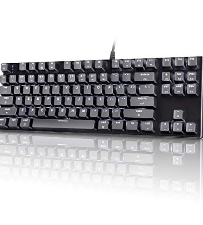 c21eef3ca20 M87 Mac Layout Mechanical Keyboard, VELOCIFIRE 87-Key with Tactile Brown  Switch, and