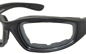Black Motorcycle Padded Foam Glasses Clear Lens for Outdoor Activity Sport OWL