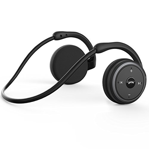 Levin Bluetooth 4.1 Headphones Neckband Wireless Sports Headset Over-Ear earbuds with Sweatproof, Hi-Fi Stereo,Built-In Microphone and 12 Hours Playtime(Black)