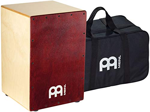 Meinl Cajon Box Drum with Internal Snares and FREE Bag - MADE IN EUROPE - Baltic Birch Wood Full Size, 2-YEAR WARRANTY (BC1NTWR)