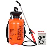 KOEI ZAKA Lawn and Garden Pump 1.3 Gallon Pressure Portable Sprayer, Handheld Mist Spray with Shoulder Strap