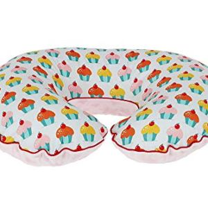 Cupcake Nursing Pillow Cover, Personalized Handmade Cotton and Minky Cover with Zipper 41h3lZzq6DL
