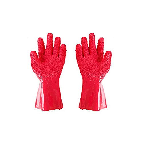 LUCKSTAR Peelers Gloves - 1 Pair Magic Quick Fruit Vegetable Potato Processing Tools PVC Anti-Slip ubber Peelers Gloves Cooking Tools Kitchen Gadget (Random Color)