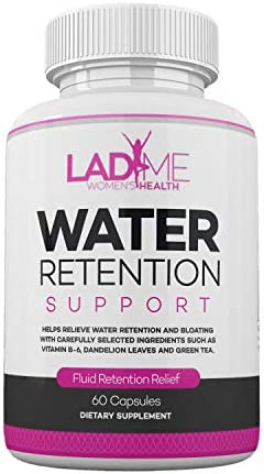 Water Retention Pills for Women Bloating Relief with Vitamin B6, Dandelion & Green Tea Natural Diuretic for Water Draining, Bloating & Swelling Detox Capsules - 60 Caps - by LadyMe 1